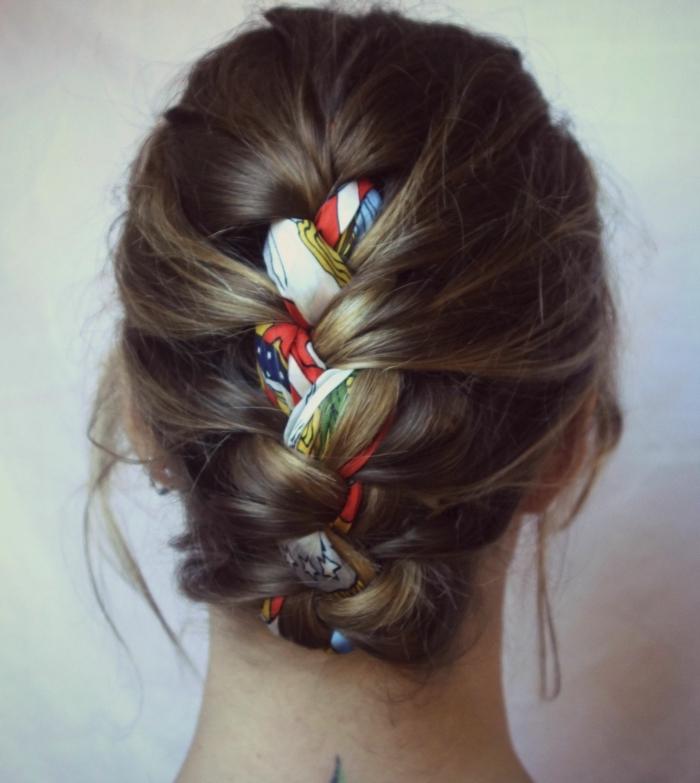 nouer foulard cheveux idée