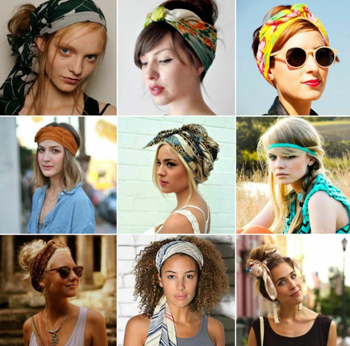 nouer foulard cheveux idées