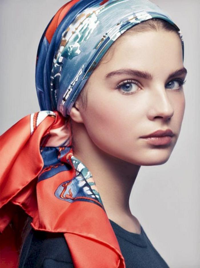 nouer foulard cheveux pour l'été
