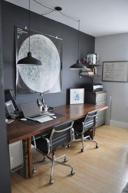 petit bureau industriel large bureau pour travail en couple