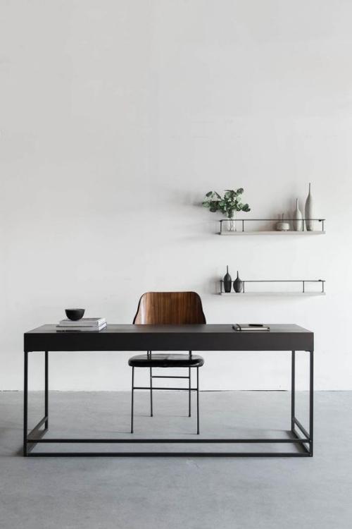 petit bureau industriel meuble en métal