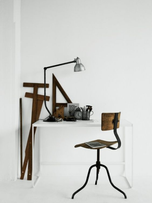 petit bureau industriel style design industriel