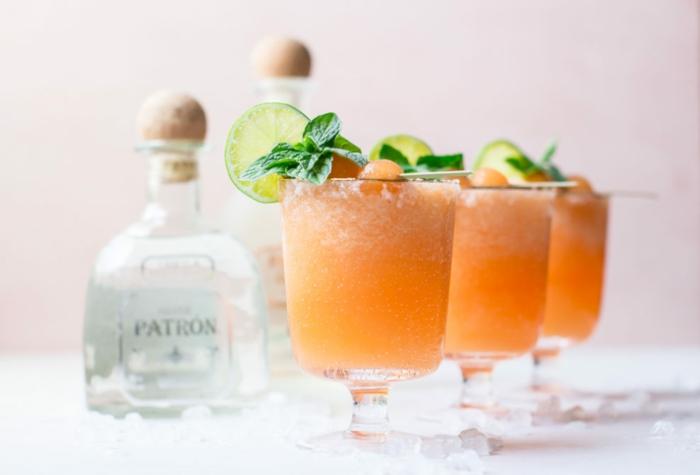 recette de slushie cantaloup et margaritas