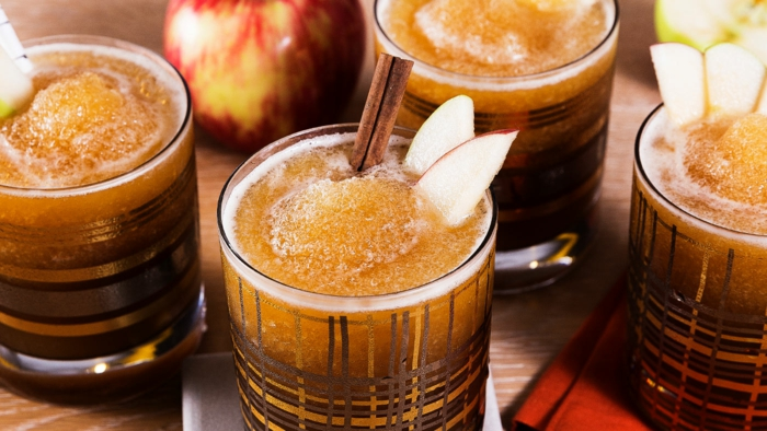 recette slushie bourbon pomme cannelle