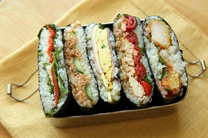 sandwich moderne japonais onigirazu