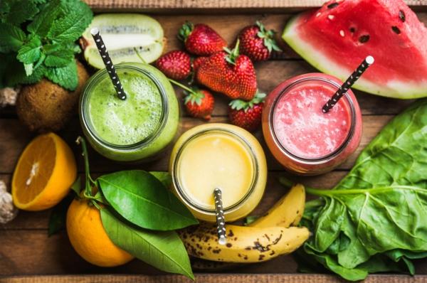 smoothie fruits frais régime crudivore