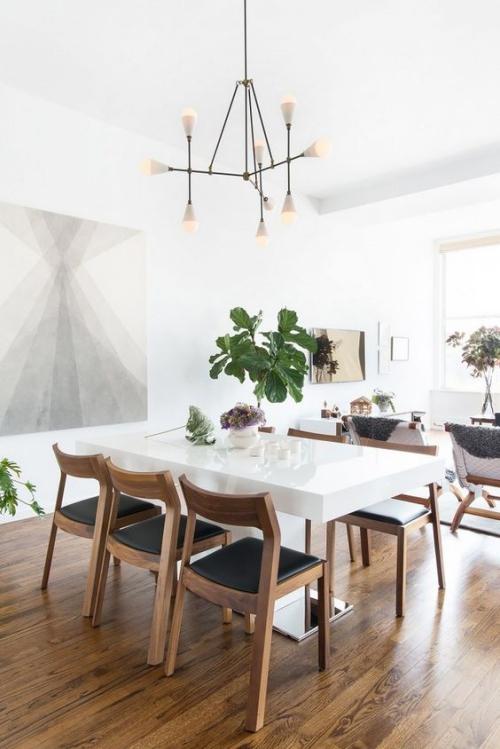 table à manger design en marbre blanc