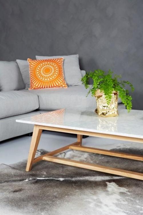 table basse en marbre petite table rectangulaire