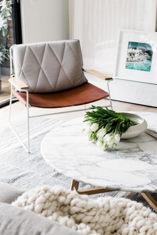 table basse en marbre table basse en imitation marbre