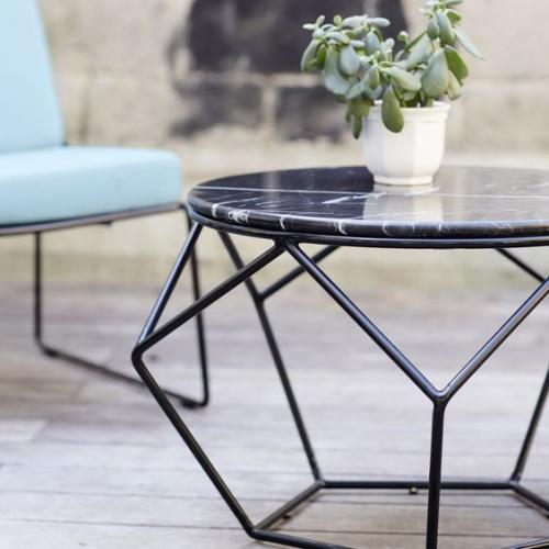 table basse en marbre table ronde à plateau mince