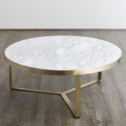 table basse en marbre table ronde en marbre veiné