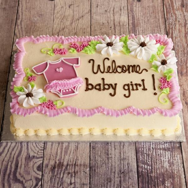 tarte fille décoration baby shower