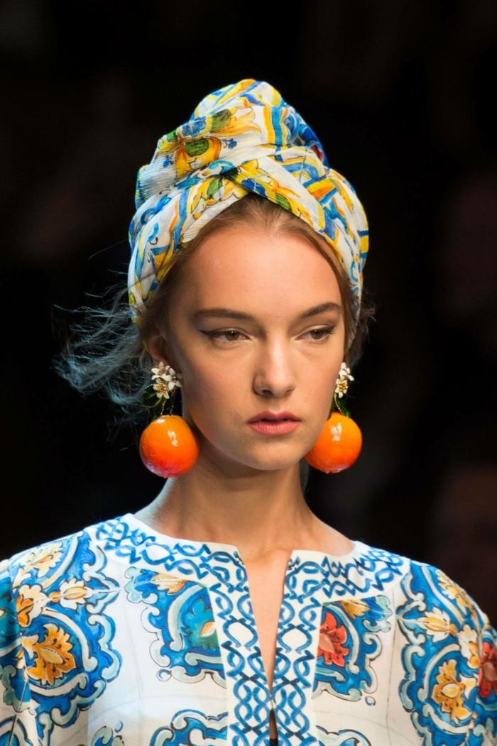 turban nouer foulard cheveux