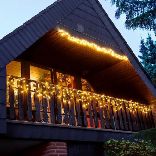 éclairage balcon décoration festive