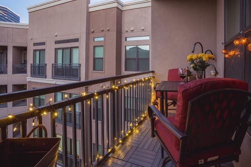 éclairage balcon garde-corps en fer