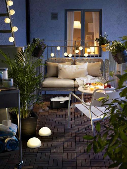 éclairage balcon garde-fou en fer