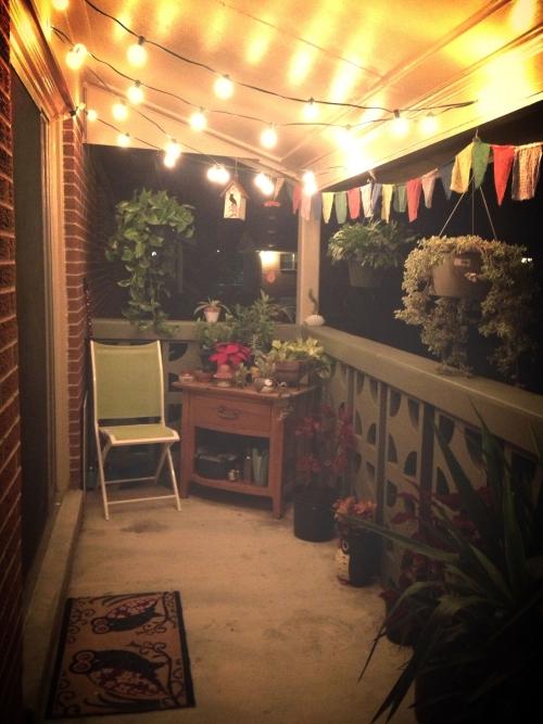 éclairage balcon terrasse en béton