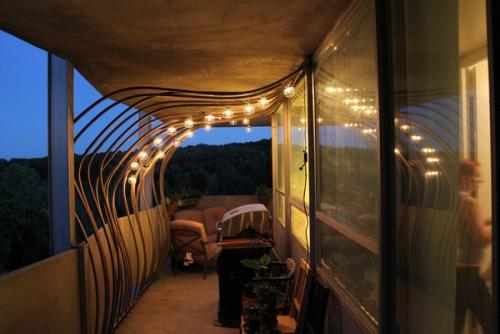 éclairage balcon terrasse moderne