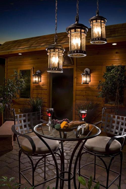 éclairage balcon terrasse pavée