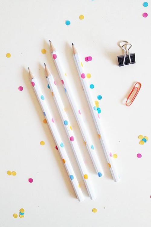 DIY fourniture scolaire crayons à écrire