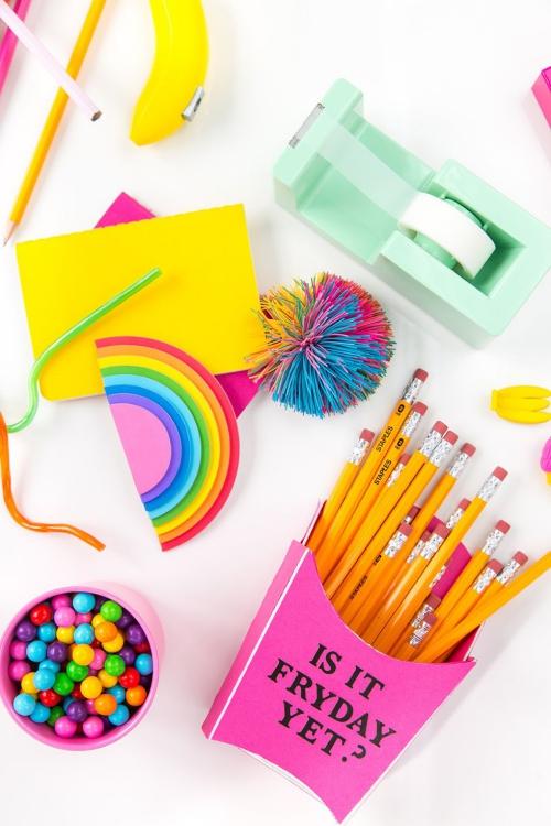 DIY fourniture scolaire porte-crayons original