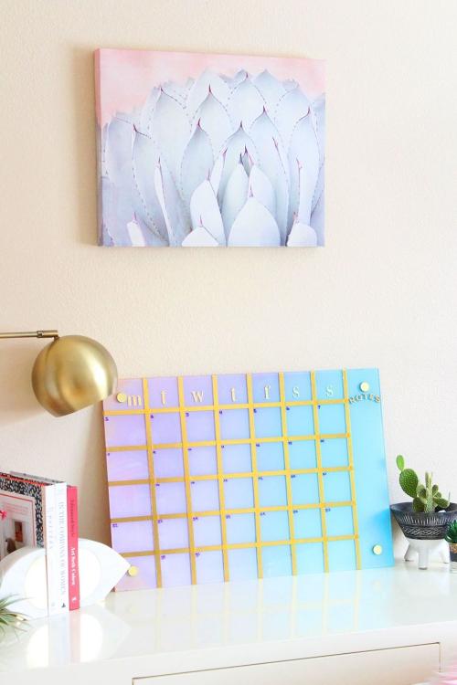 DIY fourniture scolaire tableau-agenda pour la semaine