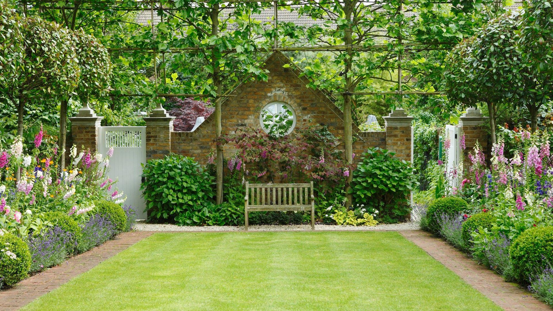 jardin anglais un banc parmi les fleurs ou le romantisme classique. Black Bedroom Furniture Sets. Home Design Ideas