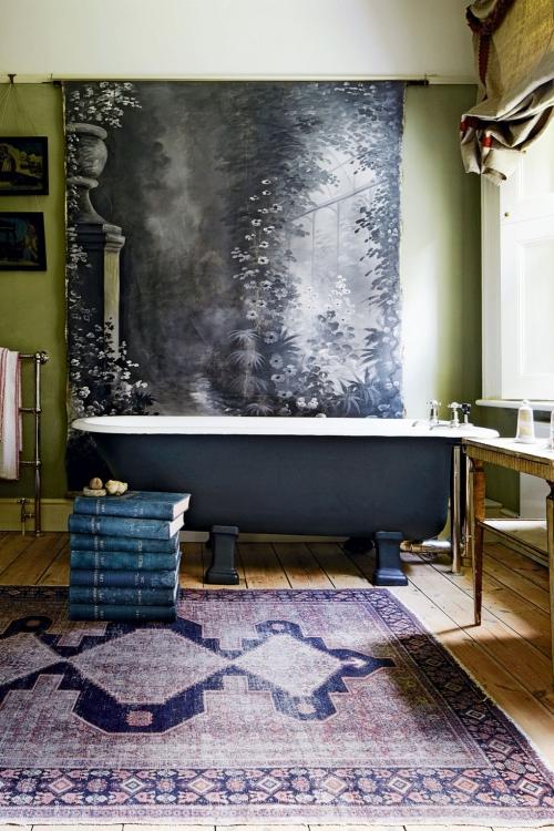 Salle de bains campagne chic fond d' écran à motifs