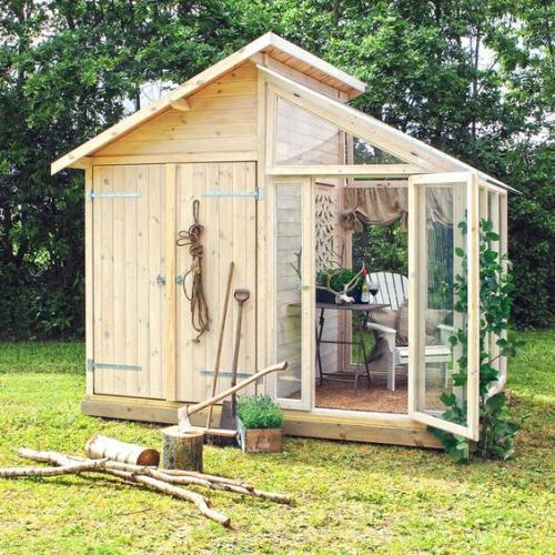 abris jardin chalet bi-fonctionnel