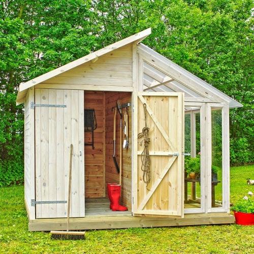 abris jardin double fonction de la cabane