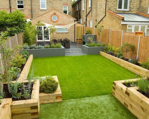 aménagement jardin arrière-cour verte