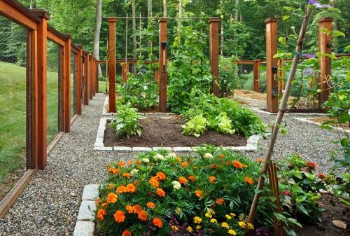 aménagement jardin bonne structure en zones