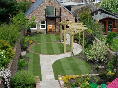 aménagement jardin petit espace en profondeur