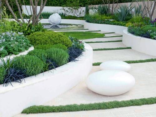 aménagement jardin style design moderne