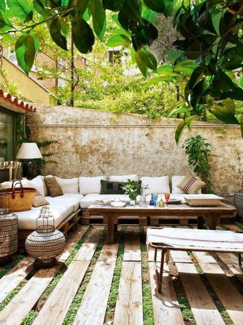 aménager un balcon long grande et longue terrasse