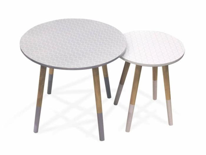 aménager un petit salon table gigogne