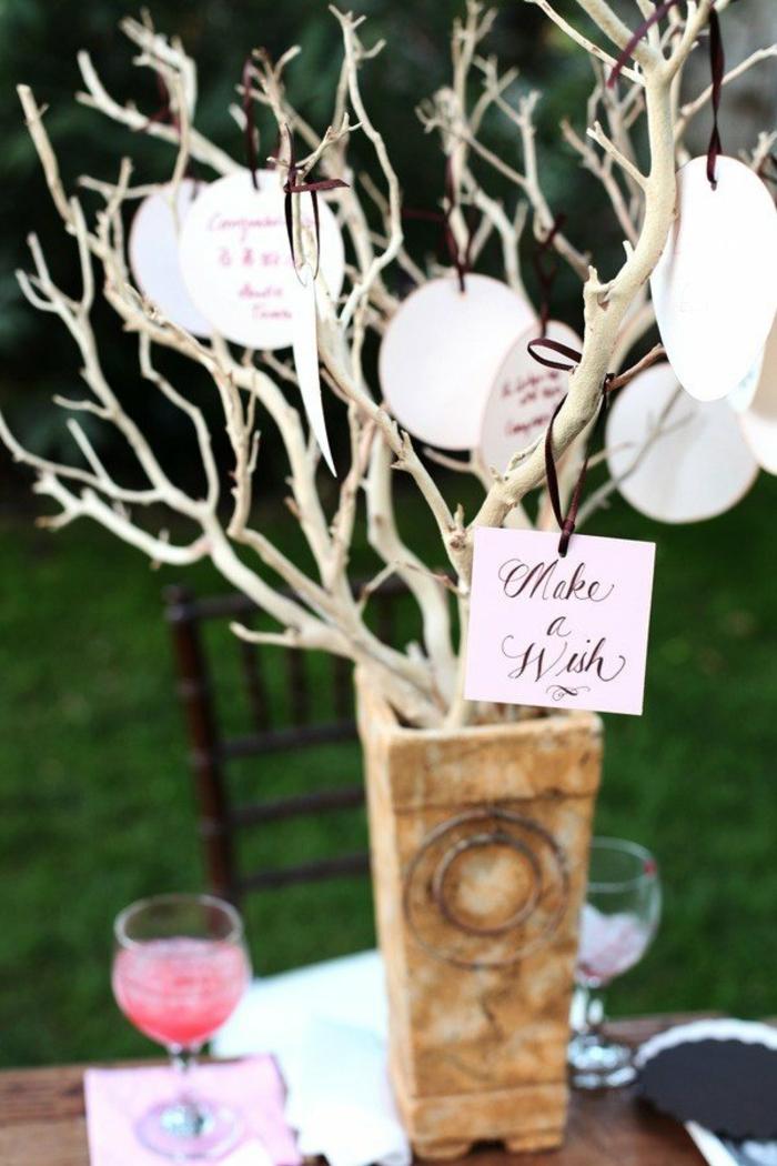 arbre à voeux idée mariage