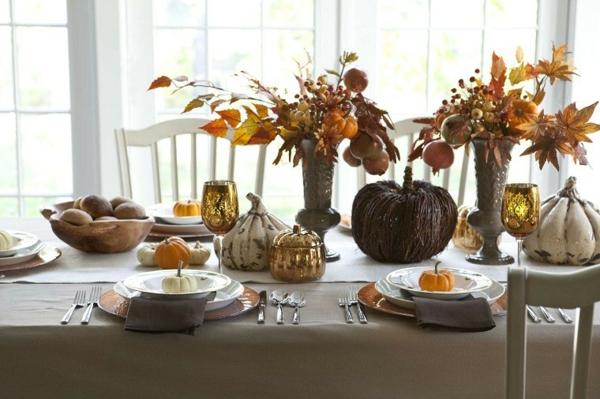arrangement table déco automne à faire soi-même