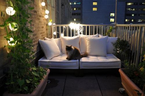 astuce déco balcon terrasse éclairée