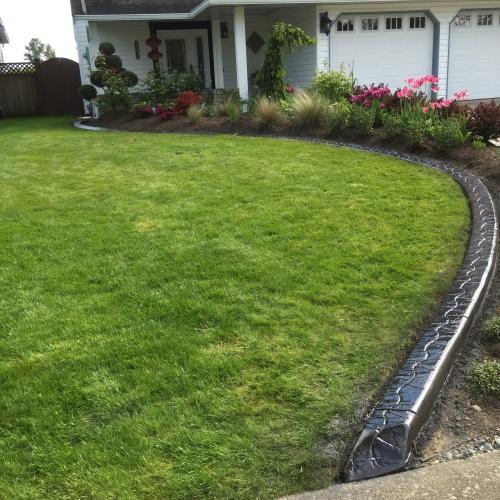 bordures de jardin bonne délimitation