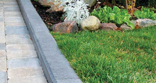 bordures de jardin rocaille et pelouse