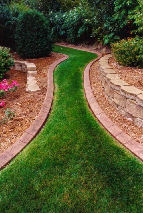 bordures de jardin sentier en pelouse