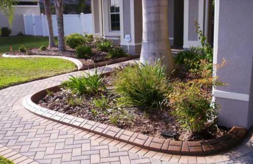 bordures de jardin un aspect très structuré