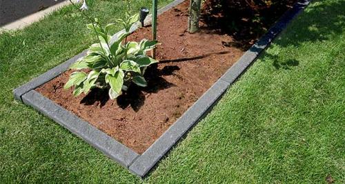 bordures de jardin un rectangle de terre
