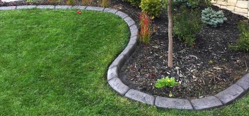 bordures de jardin une pente douce