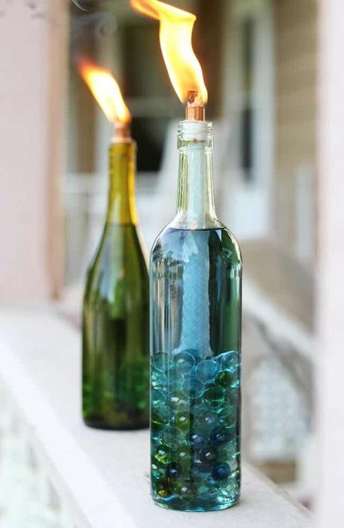 bougie anti-moustique en bouteille à faire soi-même