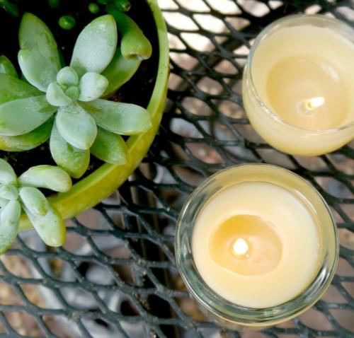 bougie anti-moustique huile de citronnelle diy