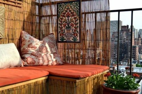 brise-vue balcon design coin-repos ethnique