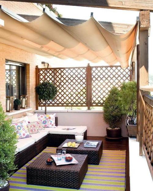 brise-vue balcon design meubles en résine tressée