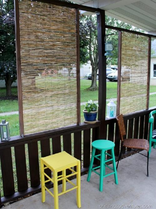 brise-vue balcon design style ethnique
